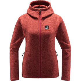 Haglöfs Swook Capuchon Jas Dames, brick red